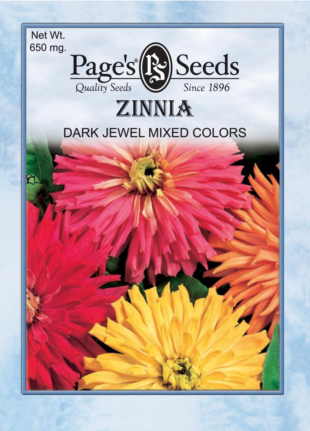 Zinnia, Dark Jewel Mix | The Page Seed Company, Inc