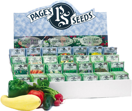 The Page Seed Company is pleased to offer its customers a wide range of vegetable, flower and herb retail seed packets under our Page's Premium seed line.